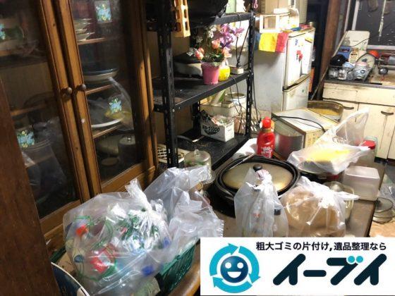 2019年5月23日大阪府四条畷市で台所の冷蔵庫の大型家電や食器棚の大型家具処分の不用品回収。写真2