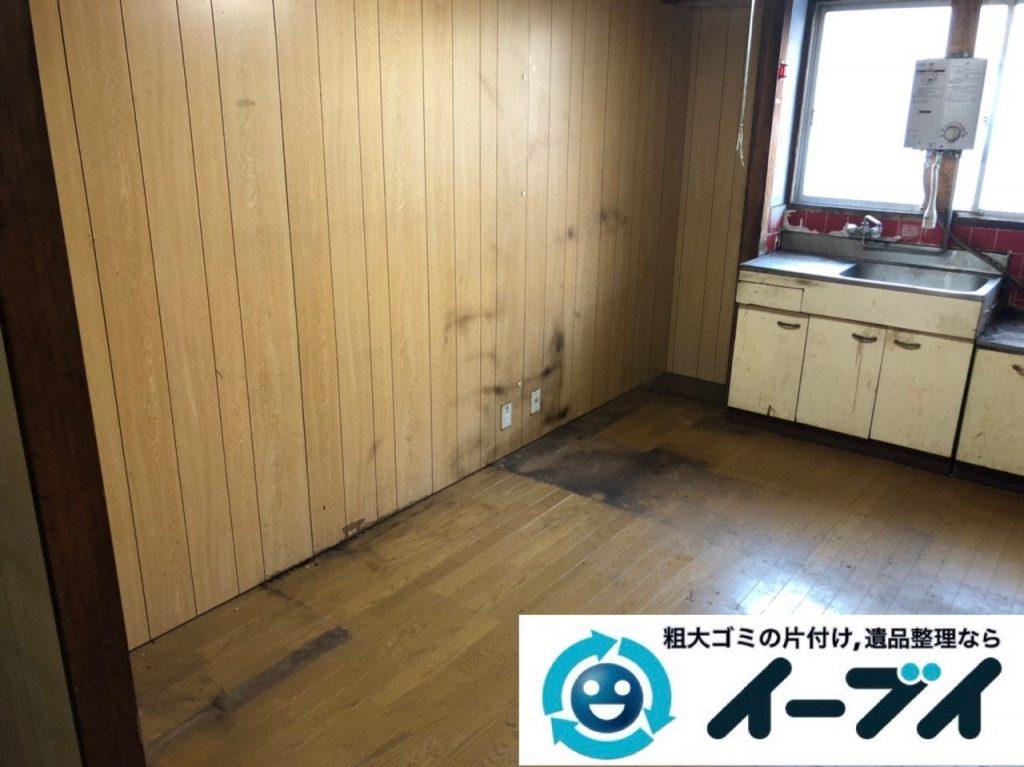 2019年5月23日大阪府四条畷市で台所の冷蔵庫の大型家電や食器棚の大型家具処分の不用品回収。写真1