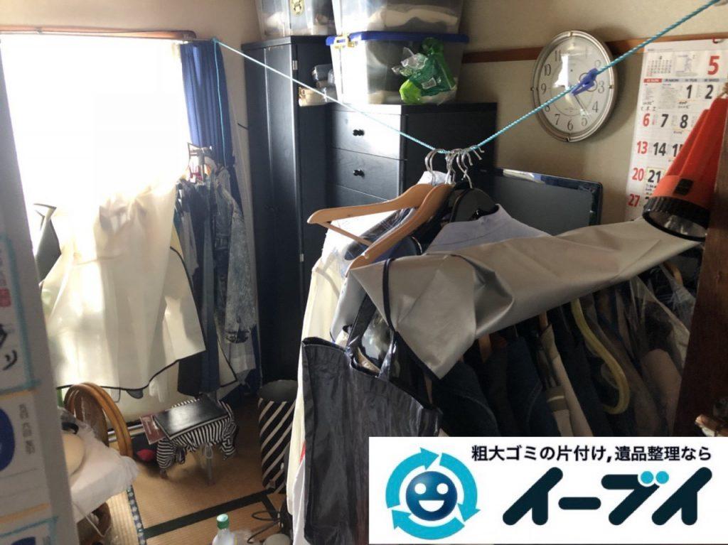 2019年4月14日大阪府堺市北区でマンション一室の不用品回収。写真2
