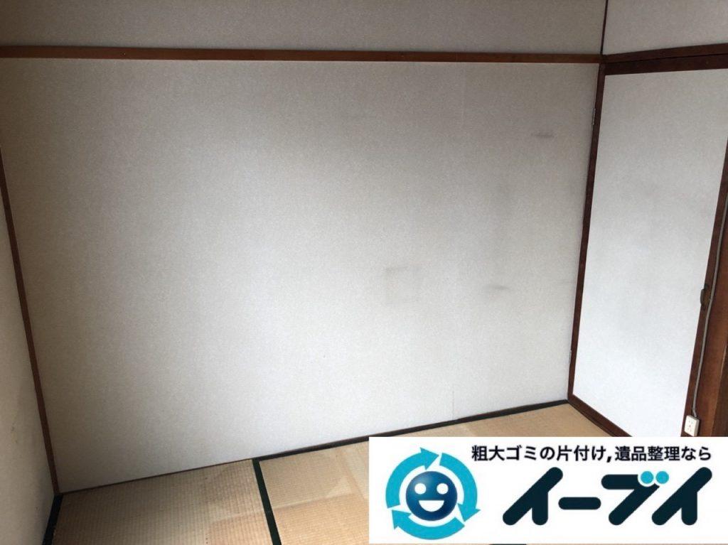 2019年5月5日大阪府大阪市浪速区で引越しに伴い、お家の家財道具を一式処分しました。写真1