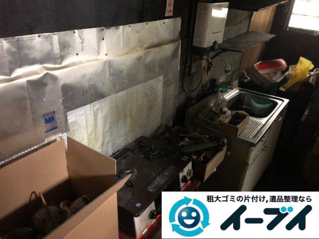 2019年4月11日大阪府交野市で残置物の不用品回収。写真2