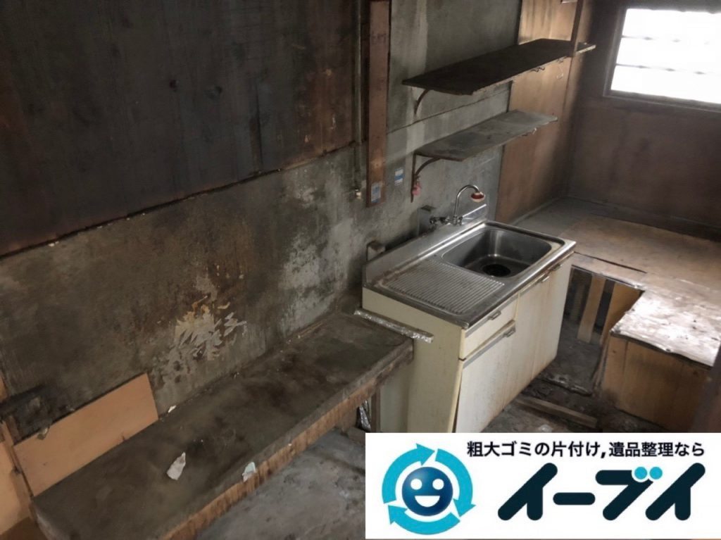 2019年4月11日大阪府交野市で残置物の不用品回収。写真1