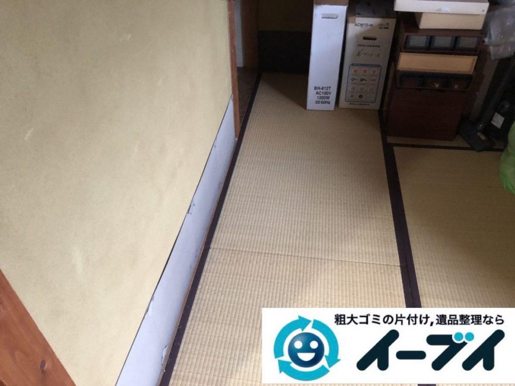 2019年4月27日大阪府寝屋川市でいる物と処分する物を仕分けしながら不用品回収作業をさせていただきました。写真2