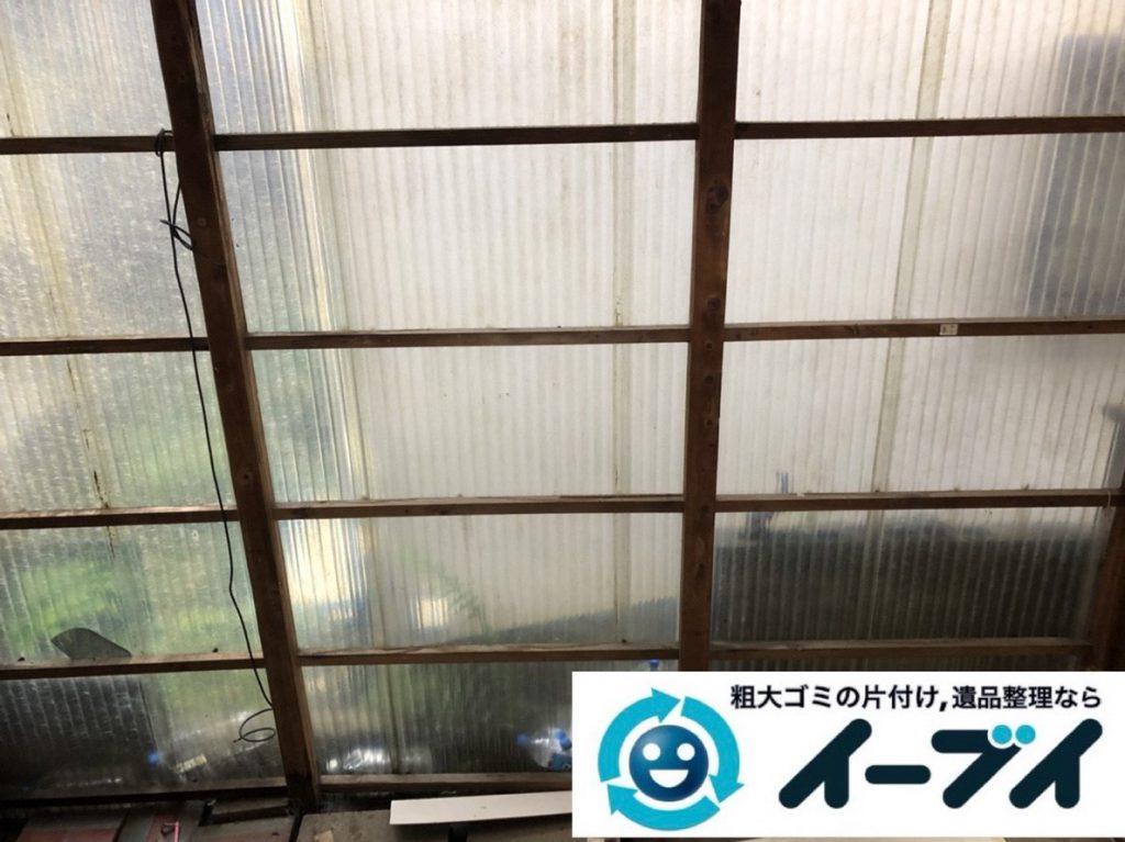2019年4月28日大阪府池田市でスチールラックなどお庭の不用品回収。写真4
