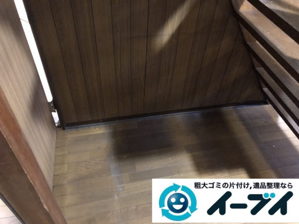 2019年5月27日大阪府大阪市都島区でデスクや金庫の不用品回収。写真4
