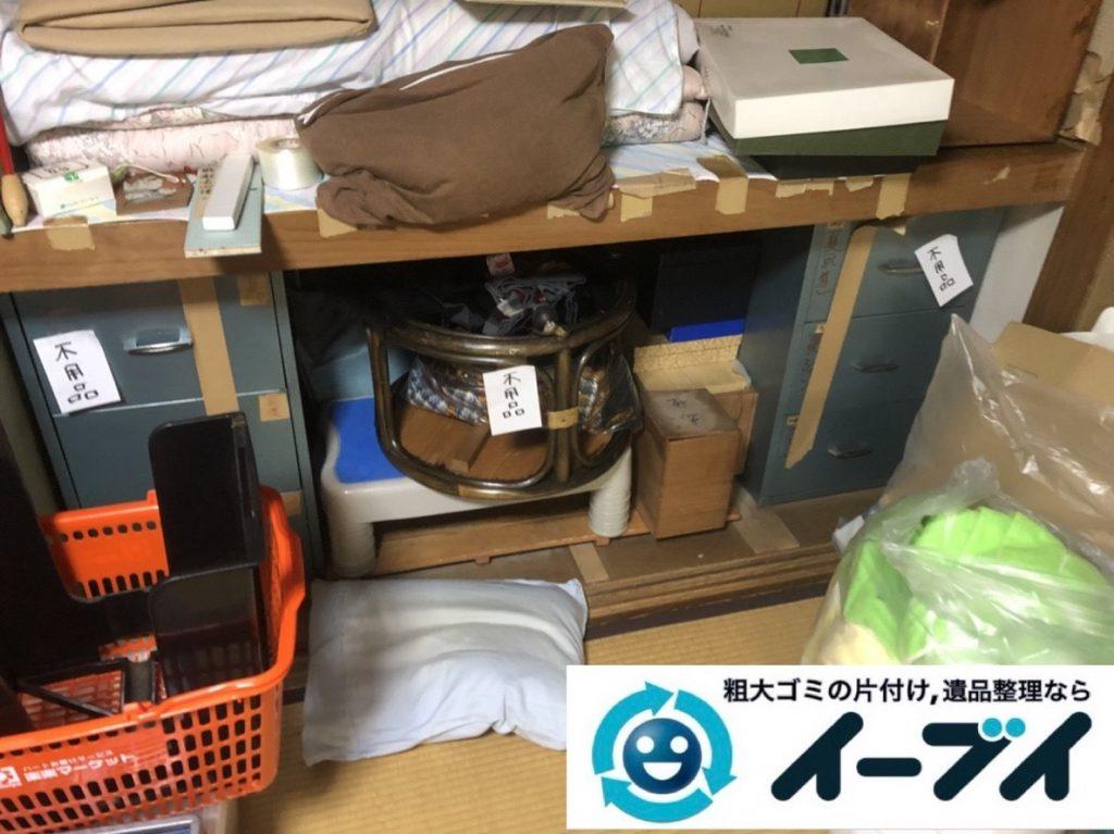 2019年5月27日大阪府大阪市都島区でデスクや金庫の不用品回収。写真1月