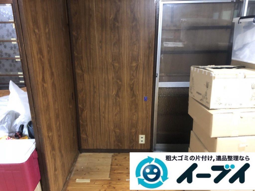 2019年5月6日大阪府大阪市淀川区で椅子や収納棚の家具の粗大ゴミ処分。写真4