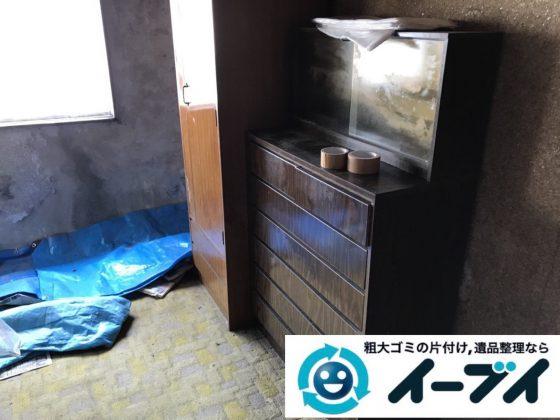 2019年4月18日大阪府大阪市でタンスや冷蔵庫など残置物の粗大ゴミ処分。写真30分