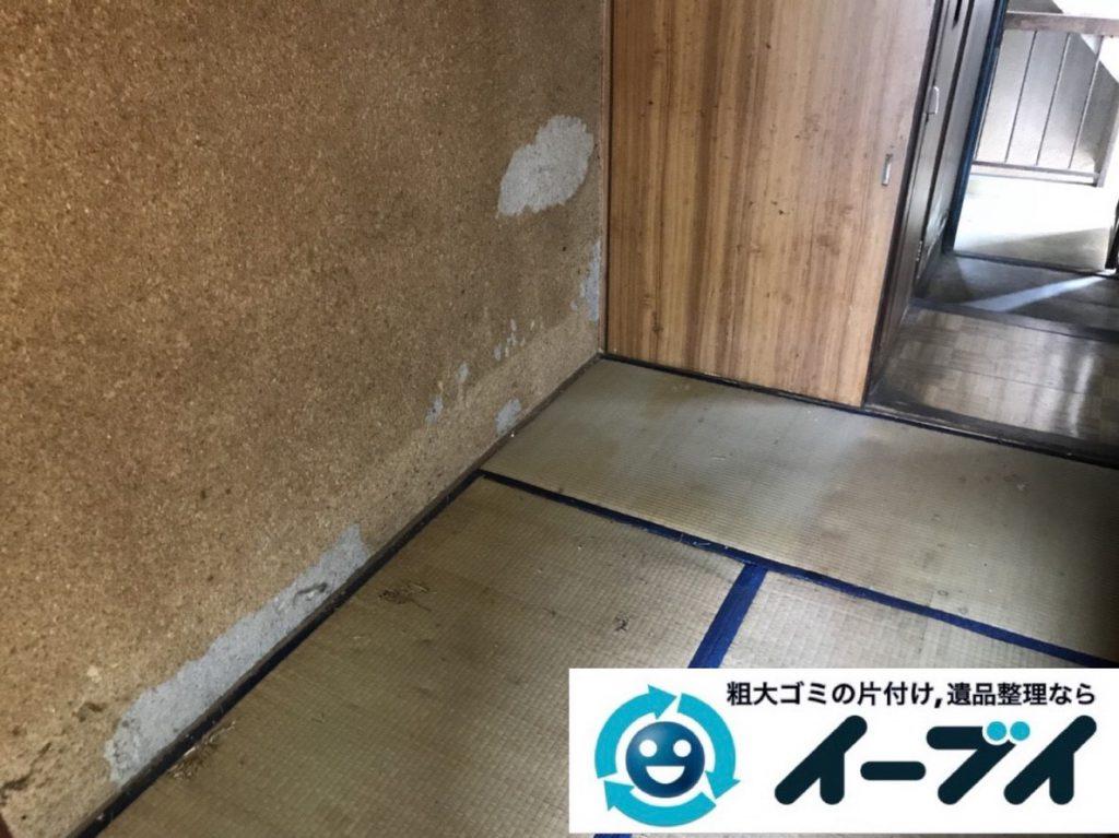 2019年4月18日大阪府大阪市でタンスや冷蔵庫など残置物の粗大ゴミ処分。写真2