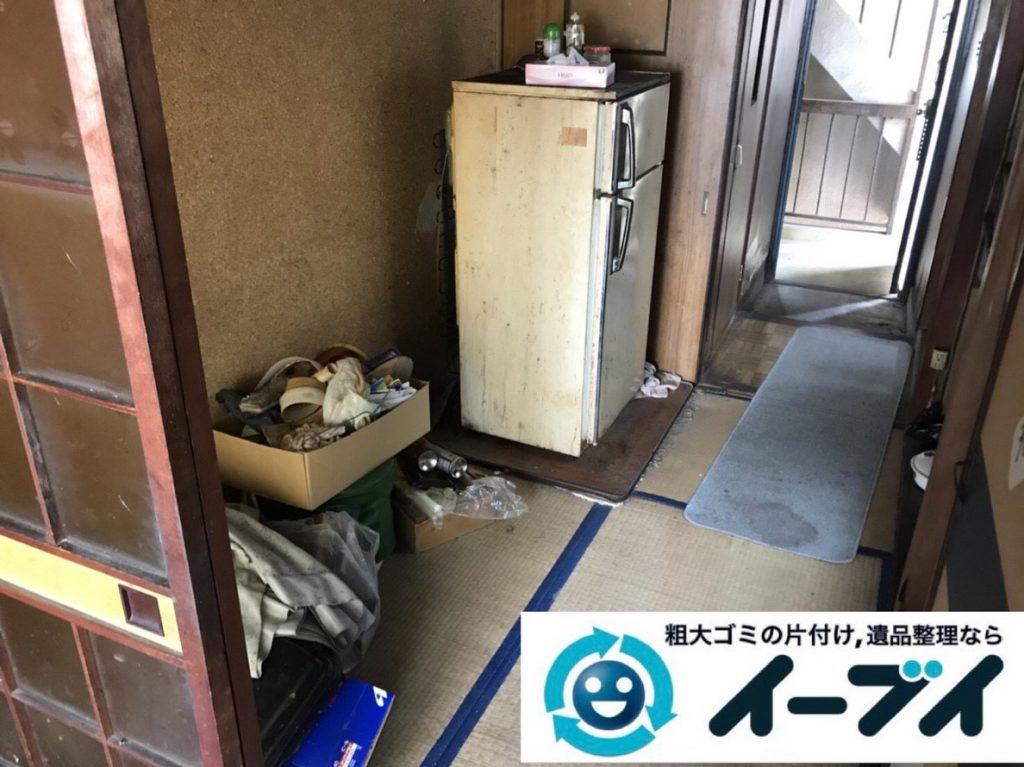 2019年4月18日大阪府大阪市でタンスや冷蔵庫など残置物の粗大ゴミ処分。写真1