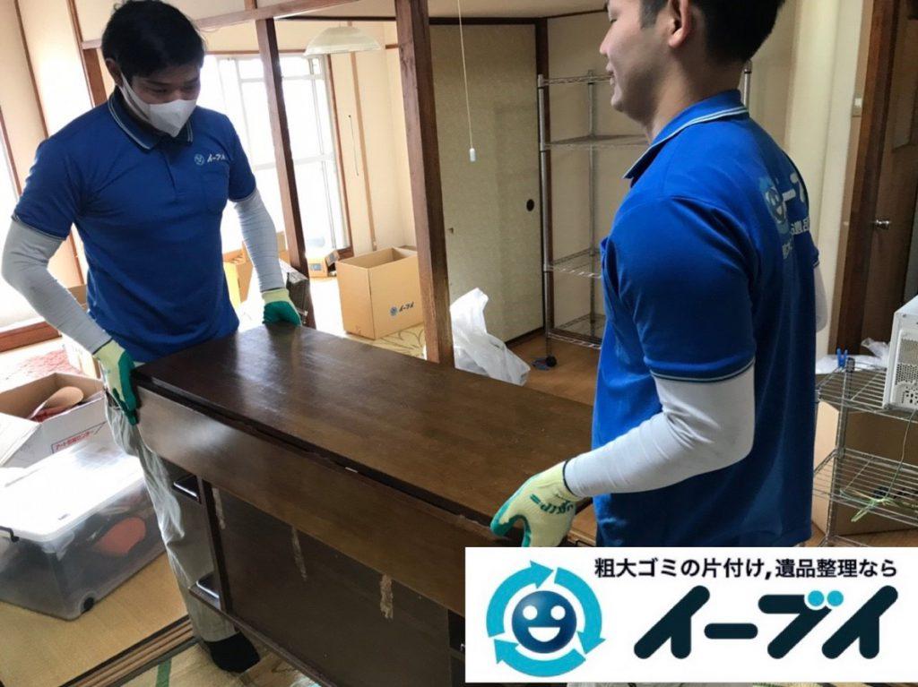 2019年4月17日大阪府交野市でご自身では運び出せない大型家具の不用品回収。写真5