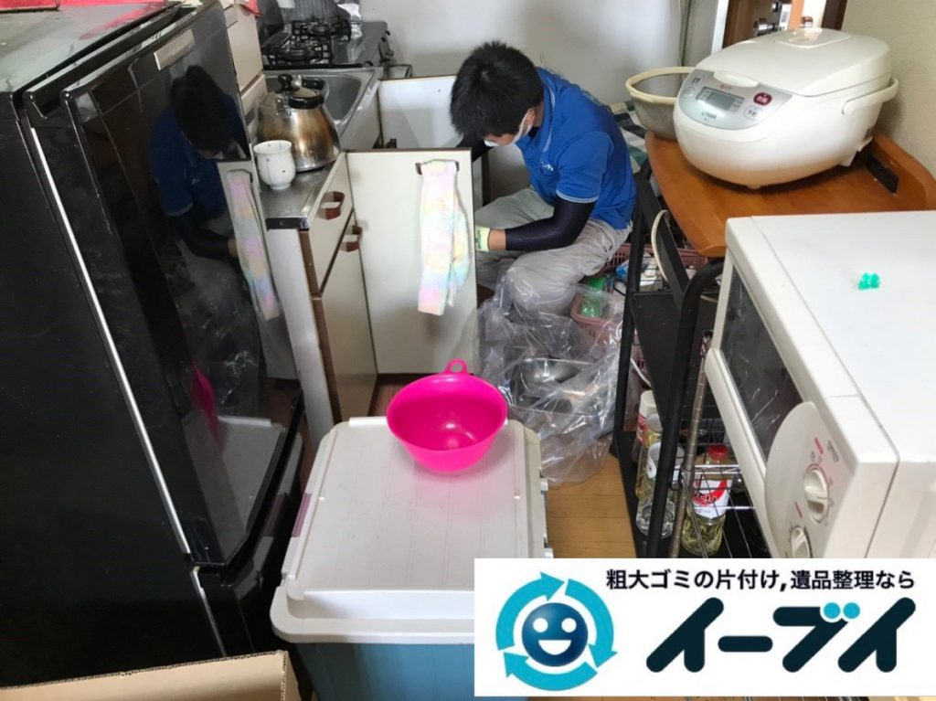 2019年4月13日大阪府大阪市平野区で大型家電や大型家具の不用品回収。写真5