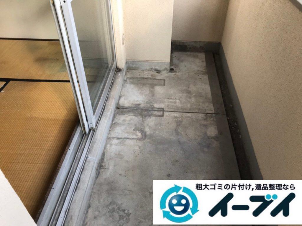 2019年4月24日大阪府大阪市生野区でベランダの不用品回収。写真4