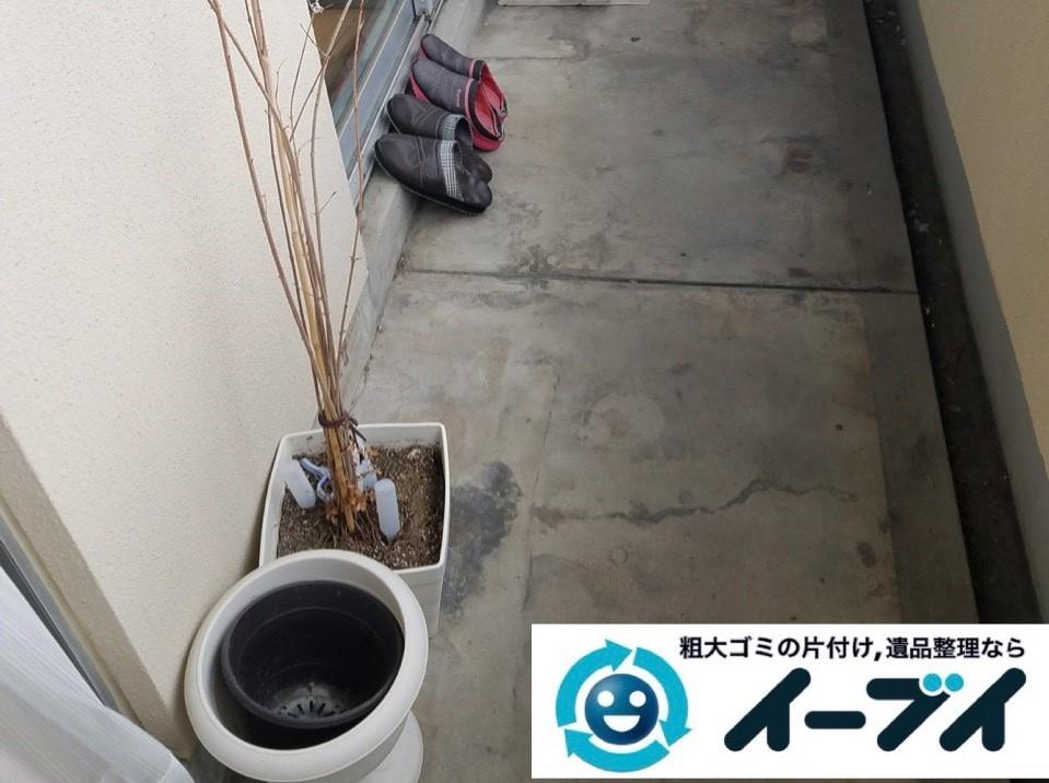 2019年4月24日大阪府大阪市生野区でベランダの不用品回収。写真30分