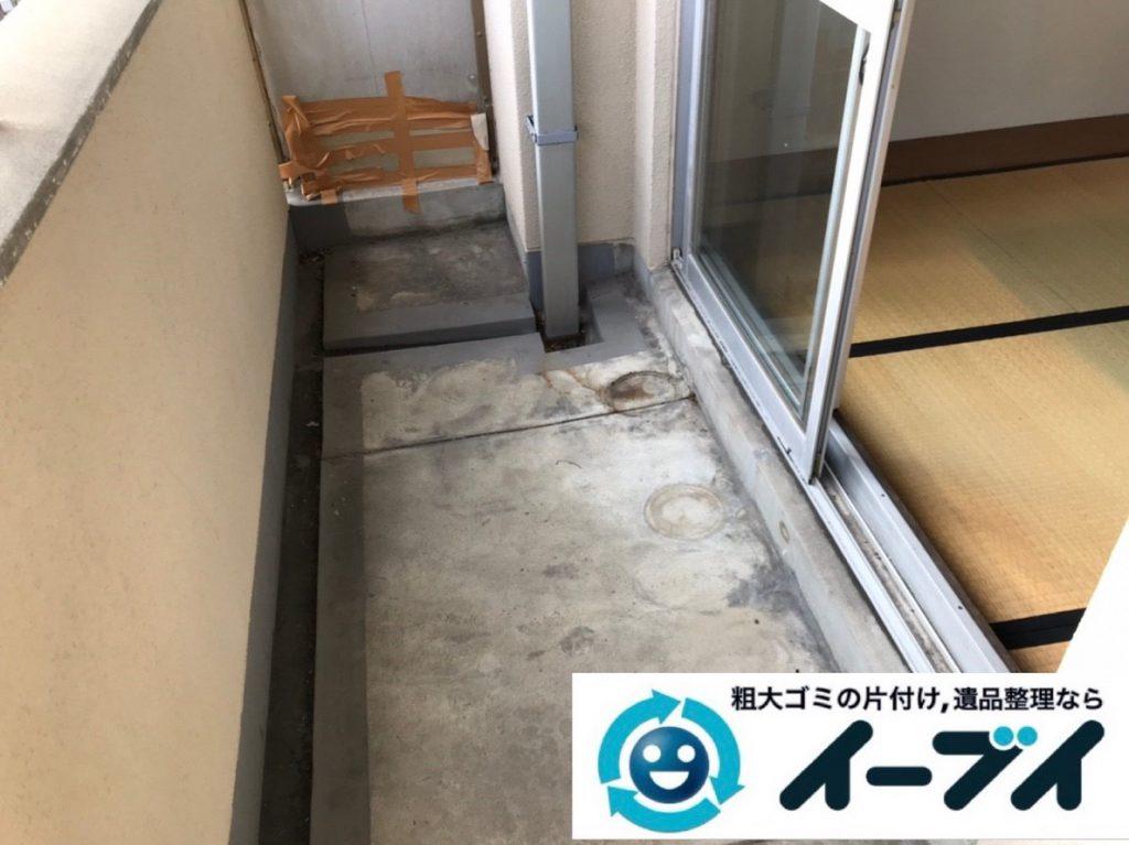 2019年4月24日大阪府大阪市生野区でベランダの不用品回収。写真2