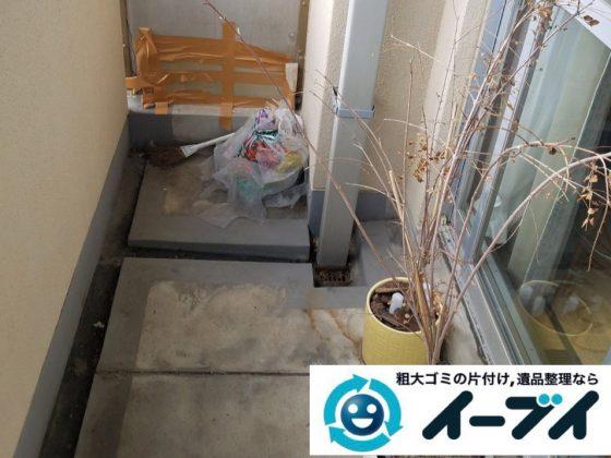 2019年4月24日大阪府大阪市生野区でベランダの不用品回収。写真1