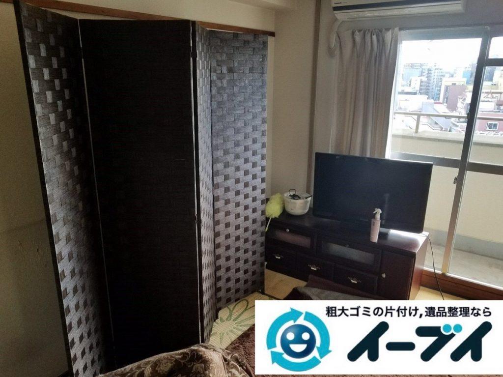 2019年5月28日大阪府高槻市でテレビやハンガーラックの不用品回収作業。写真1