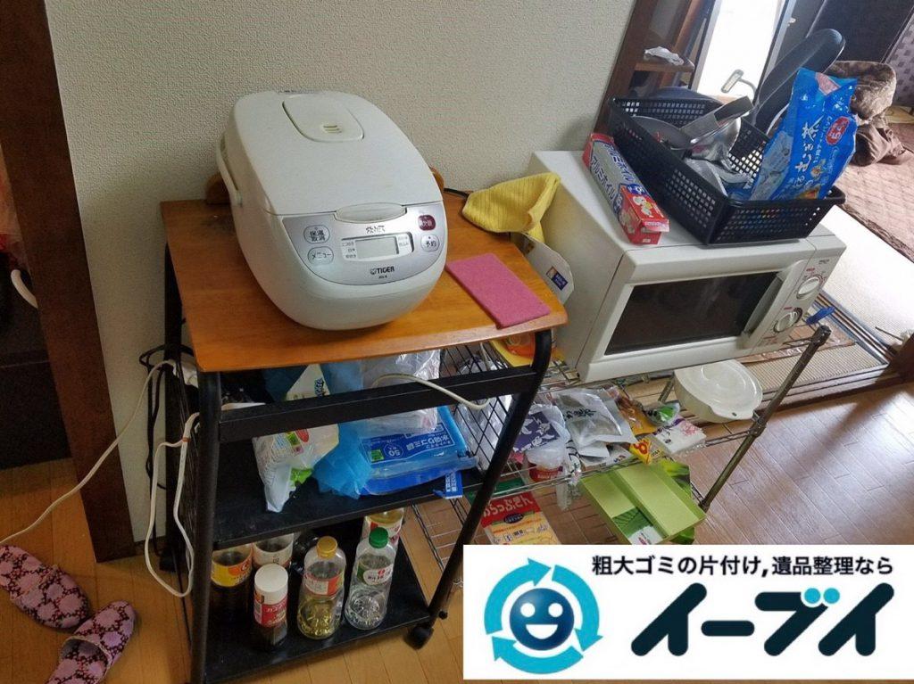 2019年4月13日大阪府大阪市平野区で大型家電や大型家具の不用品回収。写真3