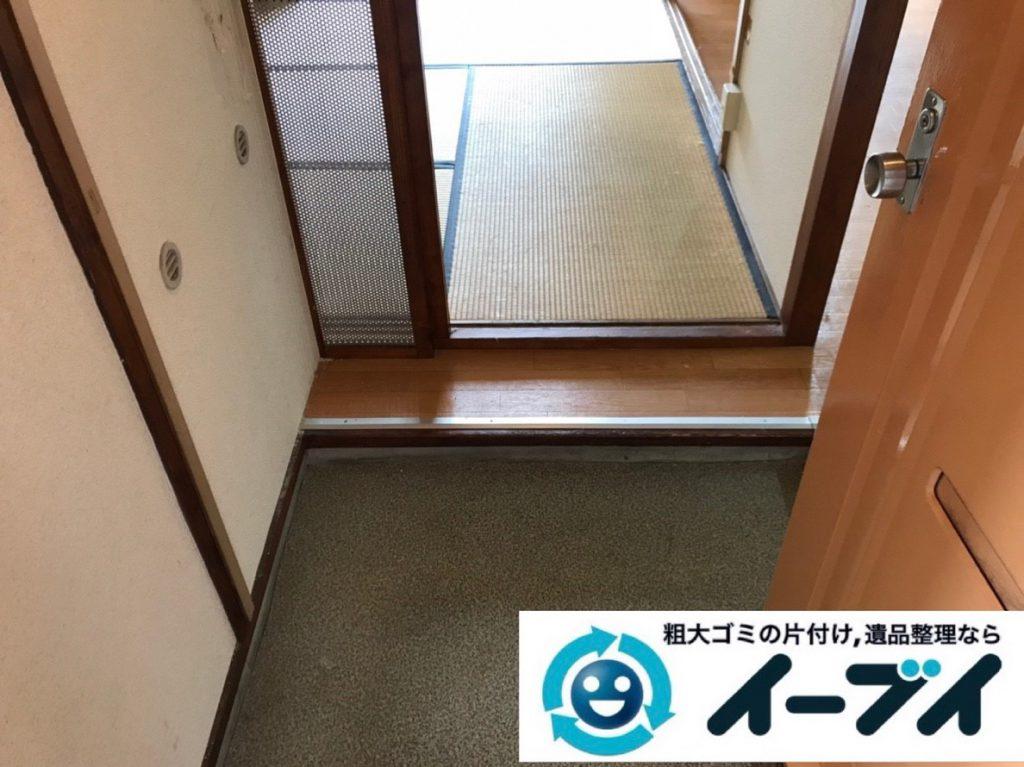 2019年4月13日大阪府大阪市平野区で大型家電や大型家具の不用品回収。写真2