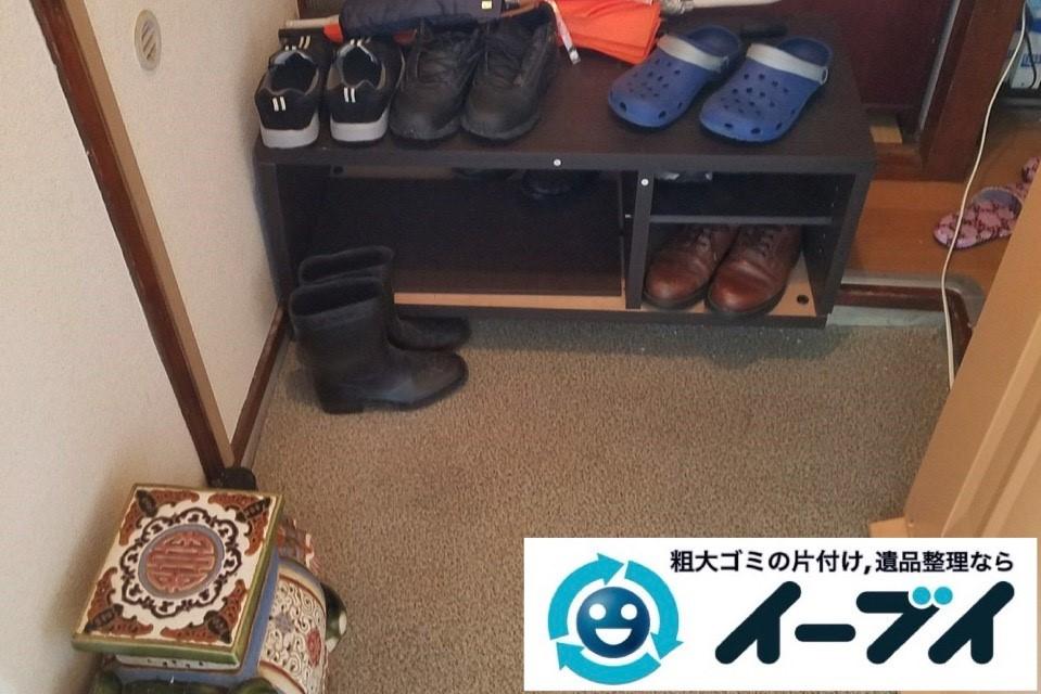 2019年4月13日大阪府大阪市平野区で大型家電や大型家具の不用品回収。写真1