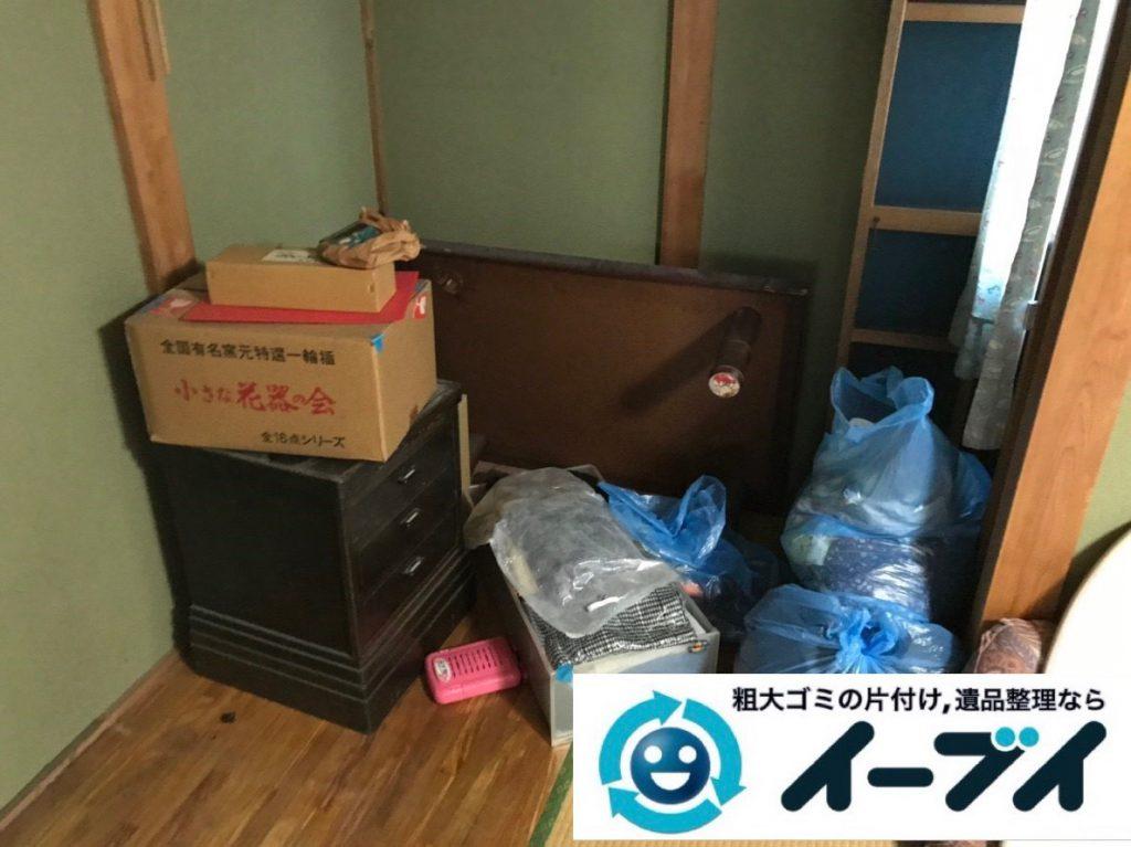 2019年4月22日大阪府千早赤阪村でテーブルの家具処分、衣類などの生活用品の不用品回収。写真4