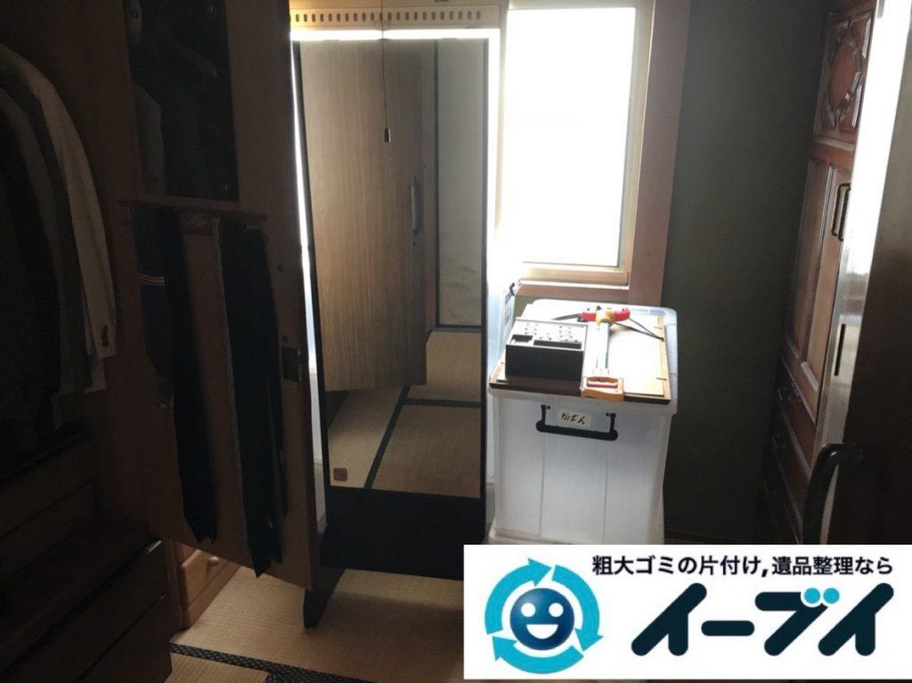 2019年4月15日大阪府堺市北区で婚礼家具や大型家具の不用品回収。写真1