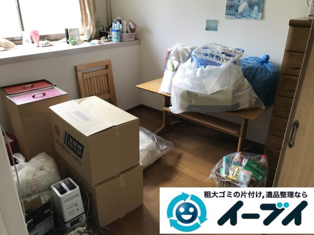 2019年4月21日大阪府大阪市港区で引越しに伴い、お家の家財道具を処分させていただきました。写真1