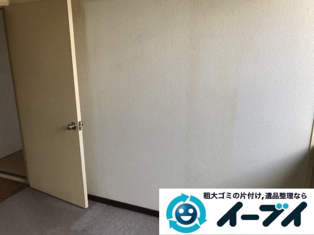 2019年4月23日大阪府大阪市西成区で箪笥や食器棚の大型家具処分をさせていただきました。写真4