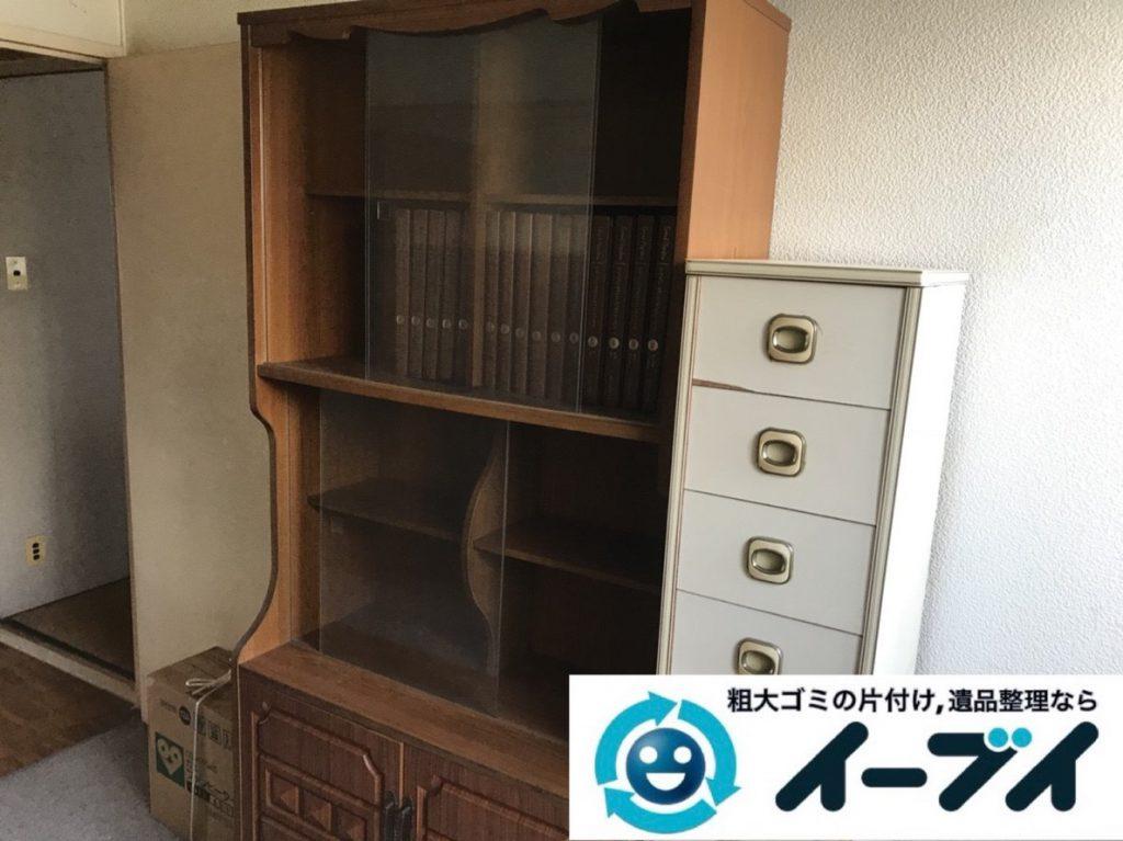 2019年4月23日大阪府大阪市西成区で箪笥や食器棚の大型家具処分をさせていただきました。写真3
