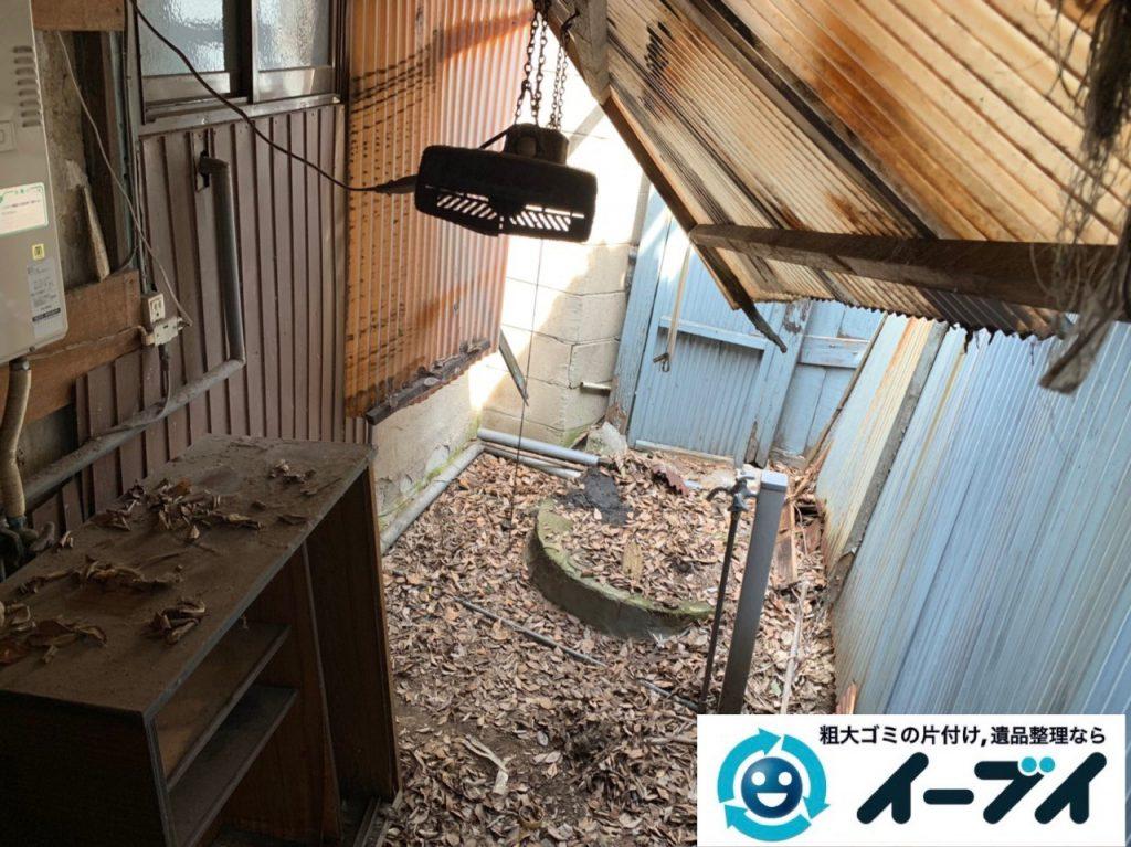2019年5月11日大阪府東大阪市でベランダとお庭の不用品回収。写真4