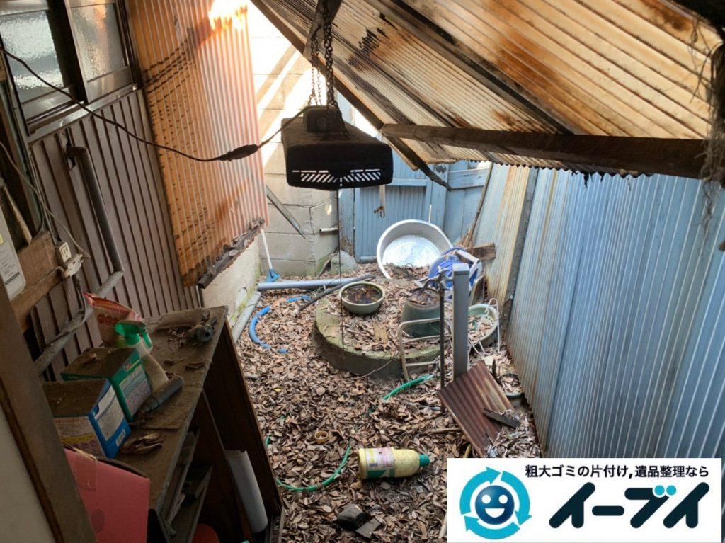 2019年5月11日大阪府東大阪市でベランダとお庭の不用品回収。写真3