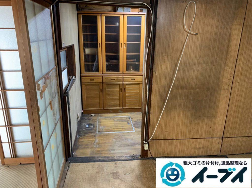 2019年5月14日大阪府吹田市でお家の家財道具を一式処分させていただきました。写真4