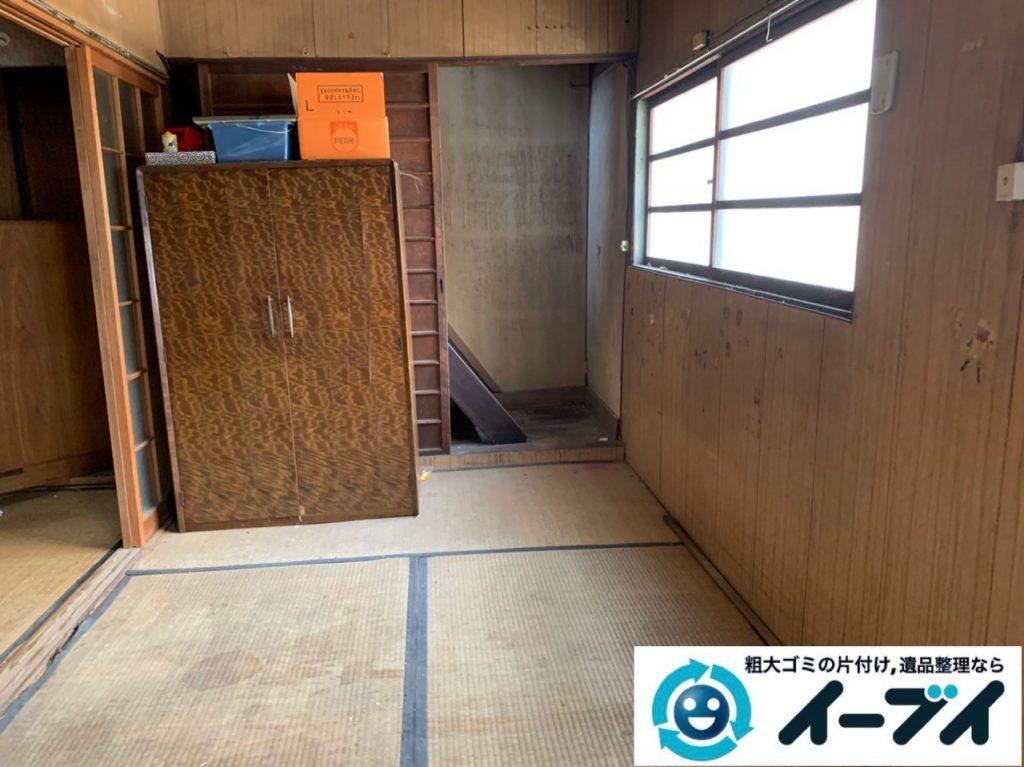 2019年5月13日大阪府泉大津市でゴミ屋敷化した汚部屋の片付け作業です。写真2