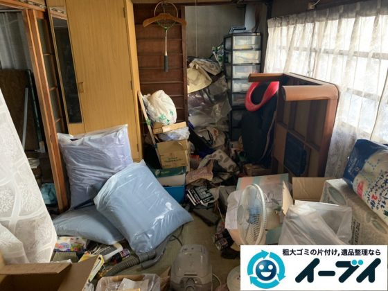 2019年5月13日大阪府泉大津市でゴミ屋敷化した汚部屋の片付け作業です。写真1