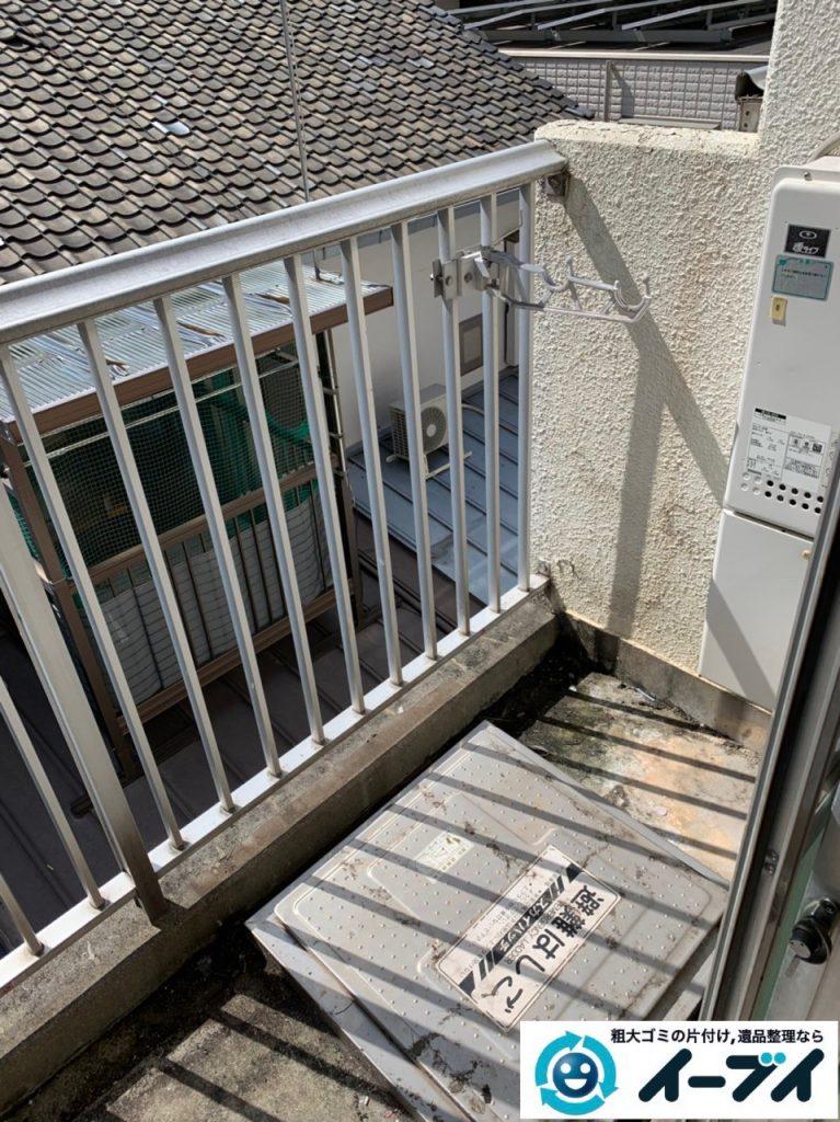 2019年5月9日大阪府堺市でお部屋とベランダの不用品回収の片付け作業。写真4