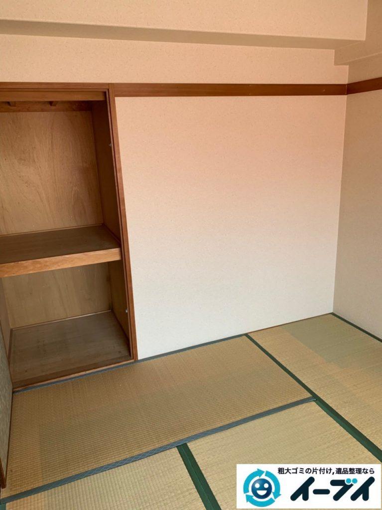 2019年5月9日大阪府堺市でお部屋とベランダの不用品回収の片付け作業。写真2