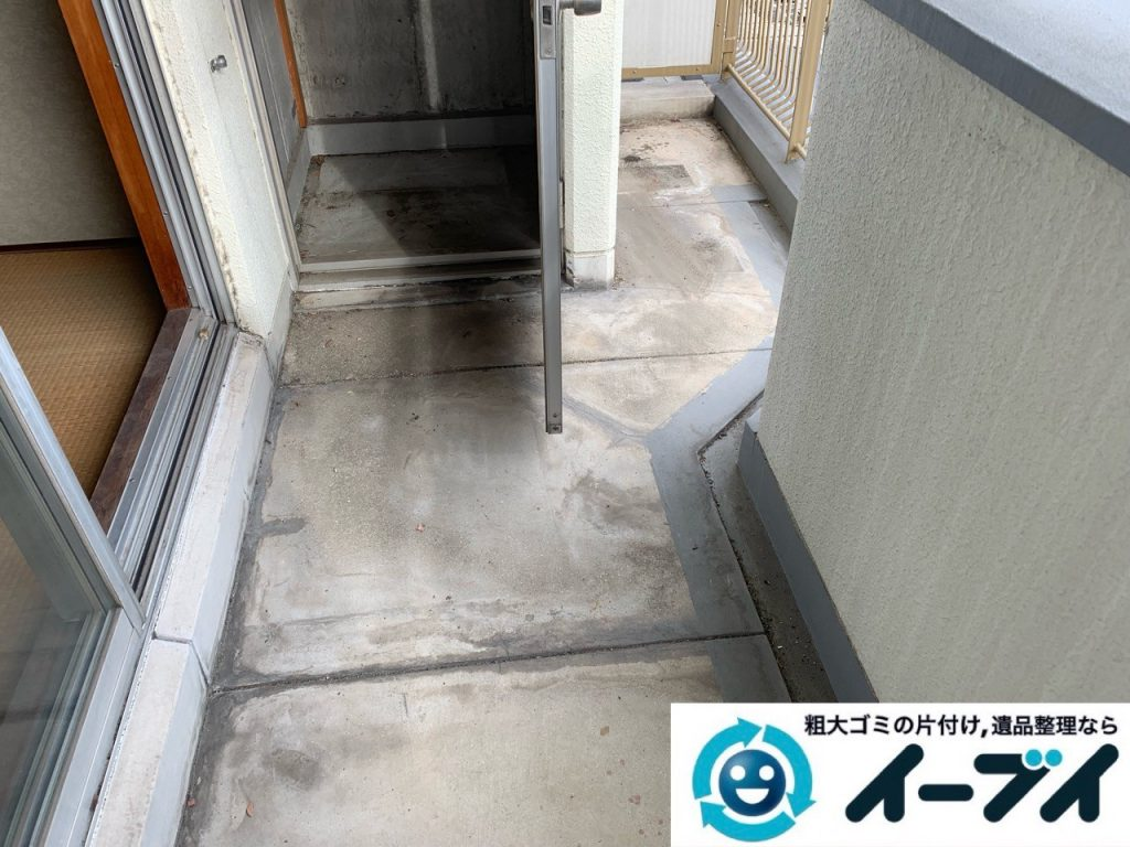 2019年5月19日大阪府大阪市東大阪市でベランダの不用品回収。写真4