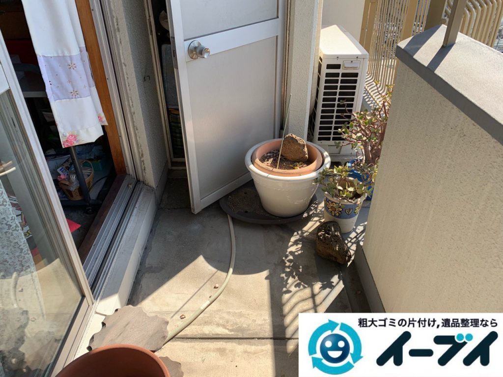 2019年5月19日大阪府大阪市東大阪市でベランダの不用品回収。写真3