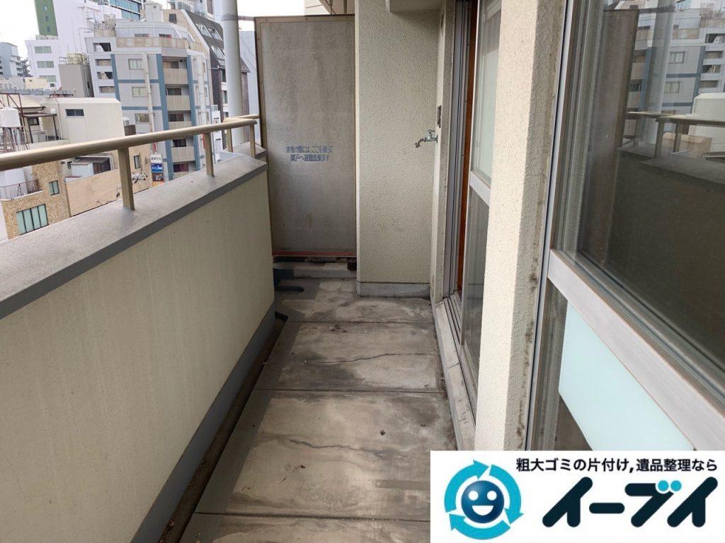 2019年5月19日大阪府大阪市東大阪市でベランダの不用品回収。写真2