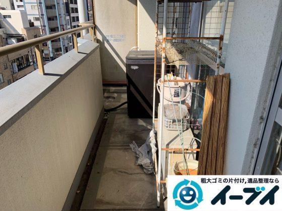 2019年5月19日大阪府大阪市東大阪市でベランダの不用品回収。写真1