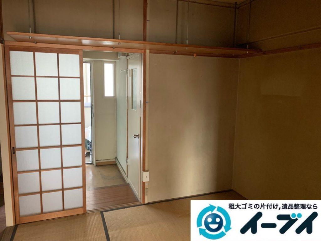 2019年5月20日大阪府堺市西区で退去に伴い婚礼家具などの家財道具処分。写真4