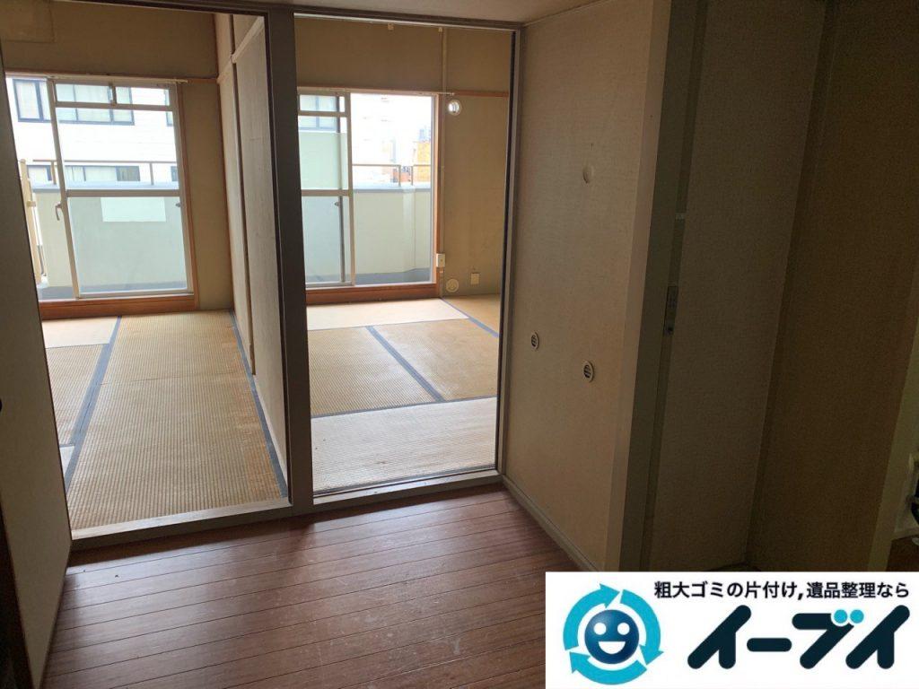 2019年5月21日大阪府大阪市福島区で食器棚も大型家具、冷蔵庫の大型家電などの不用品回収。写真2