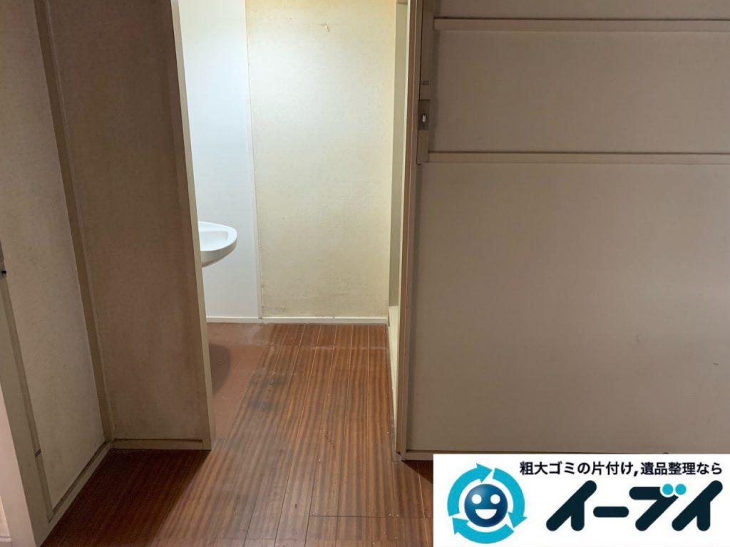 大阪府枚方市でお部屋の台所の不用品回収作業。4
