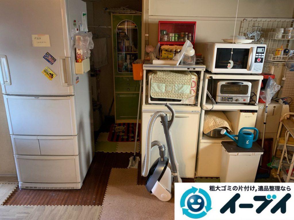 大阪府枚方市でお部屋の台所の不用品回収作業。3