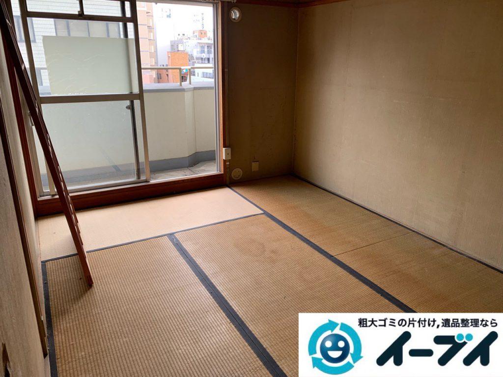 大阪府枚方市でお部屋の台所の不用品回収作業。2