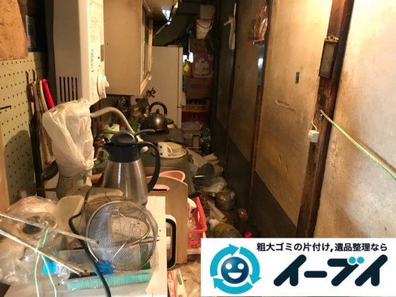 2019年6月8日大阪府大阪市大正区でゴミ屋敷化した汚部屋の片付け作業。写真3