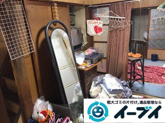 2019年6月9日大阪府大阪市北区で家財道具を一式処分の不用品回収作業。写真4