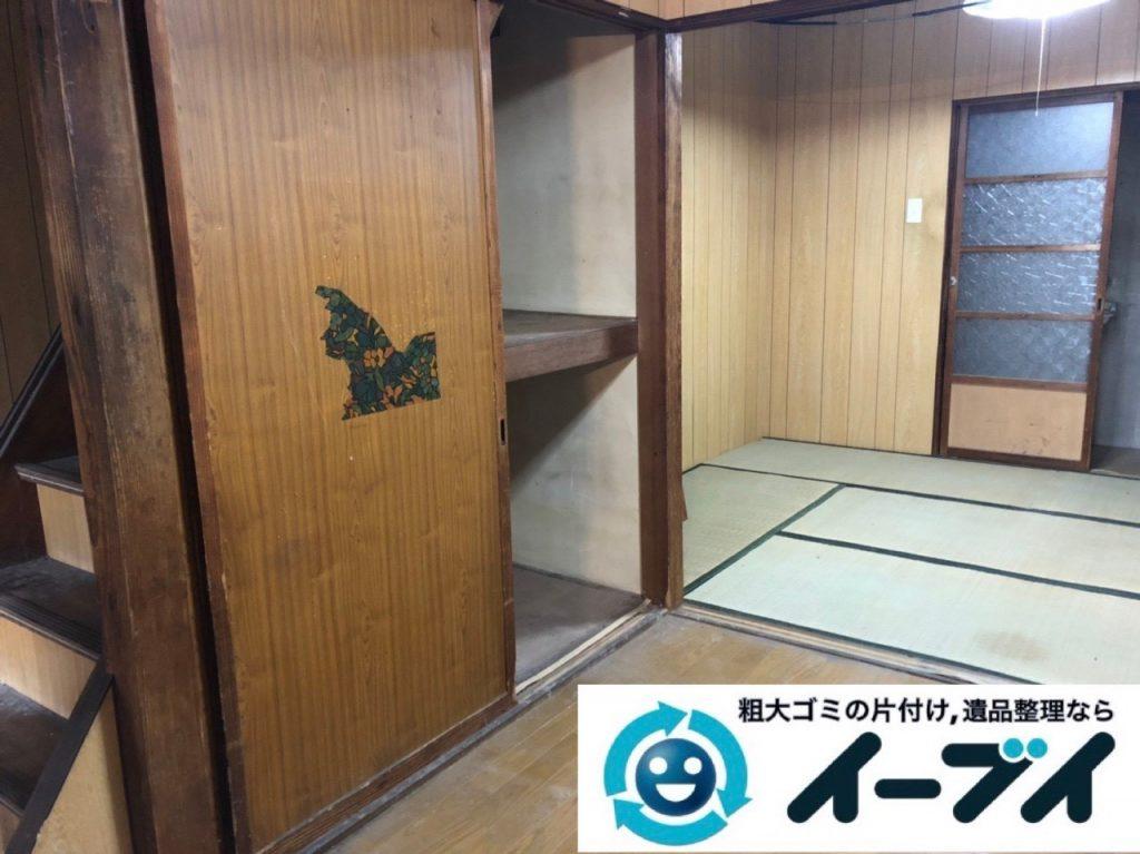 2019年6月9日大阪府大阪市北区で家財道具を一式処分の不用品回収作業。写真3