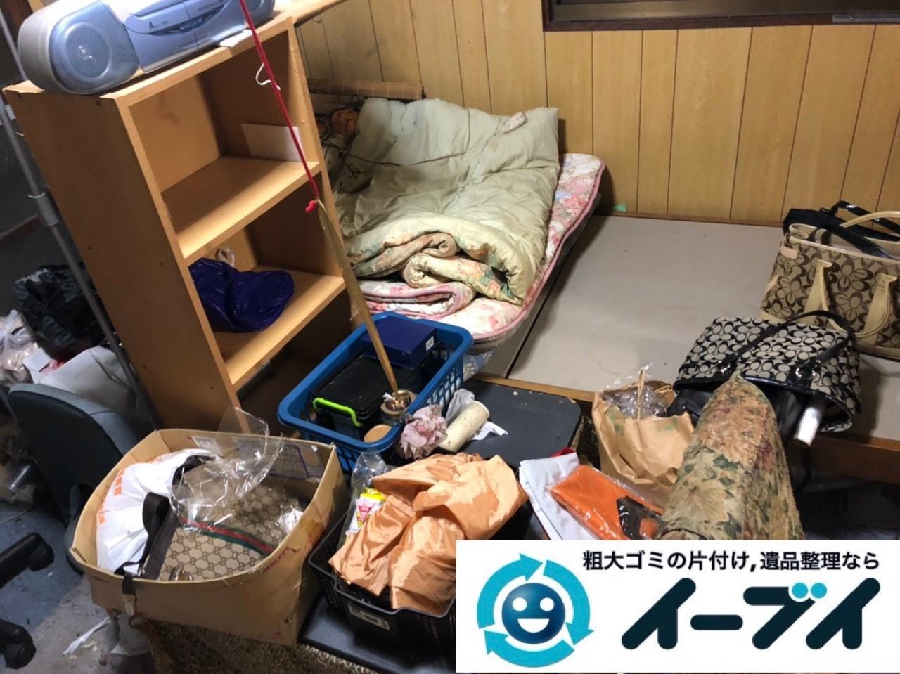 2019年6月4日大阪府岸和田市でベッドの大型家具、衣類やバッグの生活用品などの不用品回収。写真2