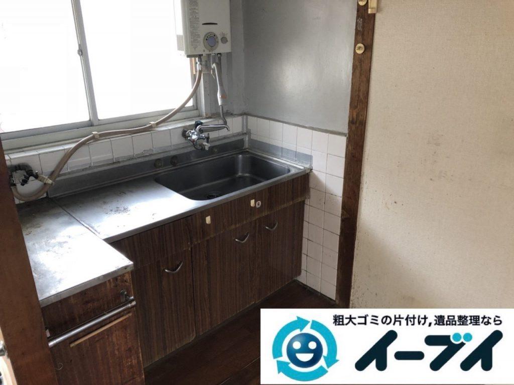2019年6月11日大阪府大阪市淀川区で引越しに伴い、お家の家財道具一式処分させていただきました。写真1